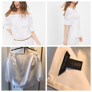 White House Black Market White Off Shoulder Top